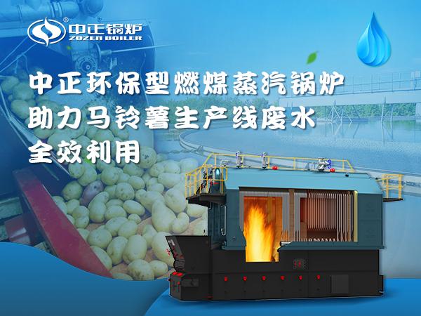"""中正环保型燃煤蒸汽锅炉实现马铃薯生产线废水""""零""""排放"""