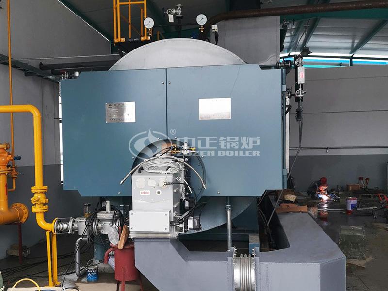 建材厂10吨高效WNS系列三回程燃气蒸汽锅炉