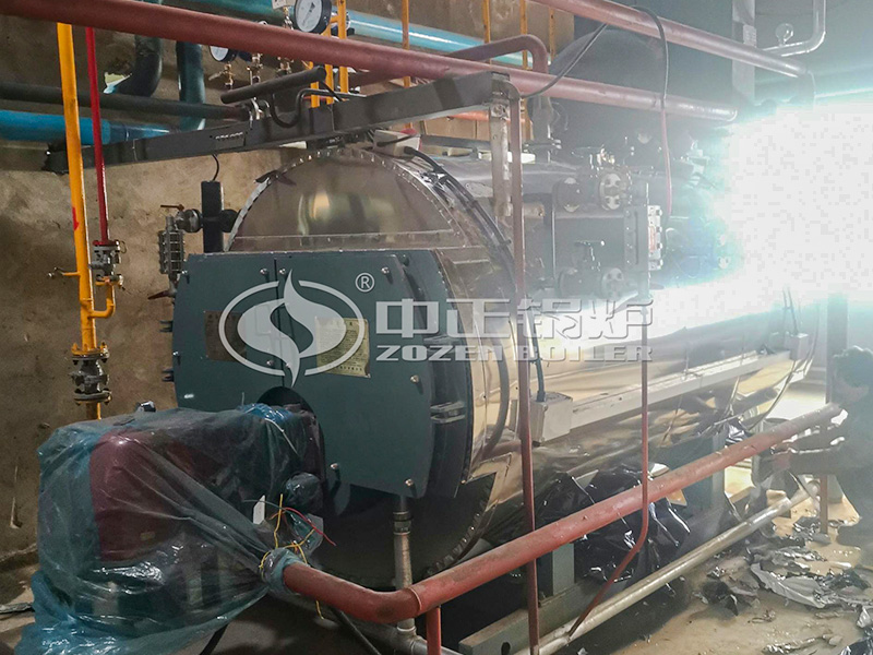 食品1吨经济型WNS系列燃气蒸汽锅炉项目